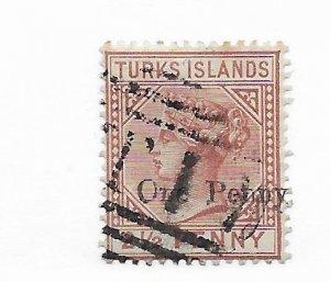 Turks & Caicos #55 Used CAT VALUE $13.50