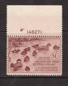 USA #RW8 NH Mint Plate Single