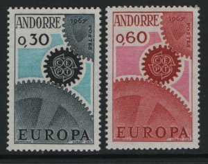 ANDORRA, 174-175, MNH, 1967, EUROPA
