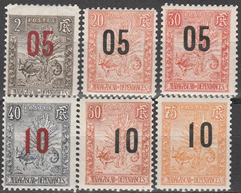 Madagascar #119-24  F-VF Unused CV $16.25  (A11112)