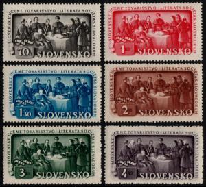 ✔️ SLOVAKIA 1942 - EDUCATION SOCIETY - SC.77/82 MNH OG [SK105]