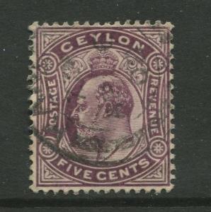 Ceylon #197 Used  1908  Single 5c Stamp
