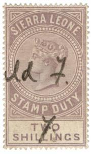 (I.B) Sierra Leone Revenue : Stamp Duty 2/-