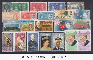 CAYMAN ISLANDS - SELECTED STAMPS - 22V - MINT MOSTLY NH
