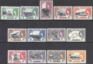 St Helena 1953 1/2d-10s Pictorial SG 153-165 Scott 140-152 UMM/MNH Cat £80($112)