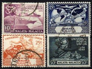 Malaya Malacca #18-21   F-VF Used CV $17.30  (X1332)