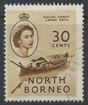 North Borneo  SG 381  SC# 270  Used   see scan
