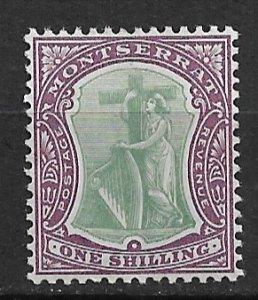 1903 Montserrat 18 Symbol of the Colony 1sh MH