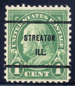 Streator IL, 632-61 Bureau Precancel, 1¢ Franklin