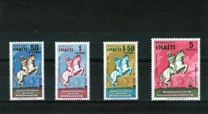 HAITI 1962 Horses-Jean Jacques Dessalines Set(4)Sc#CO6-9 MNH