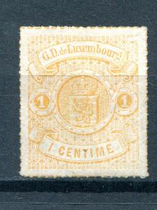 Luxembourg #18  Mint  VF  signed  - Lakeshore Philatelics