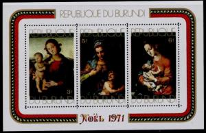 Burundi 378a MNH Christmas, Art, Paintings