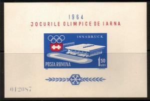 ROMANIA SGMS3077 1963 WINTER OLYMPIC GAMES MNH