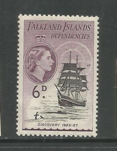 FALKLAND ISLANDS, 1L26, MINT HINGED, TRANS-ANTARCTIC EXPED. DISCOVERY 1925-27