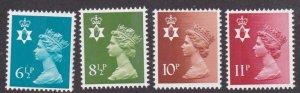 Great Britain - North Ireland # NIMH7 / 15, 4 Machin Heads, Mint NH