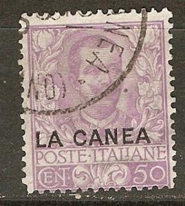 Italy Off Crete 11 SG 11 Used  Fine 1906 SCV $21.50