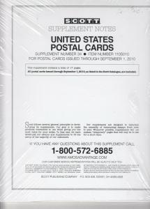 Scott U.S. Postal Cards Supplement #34 2010