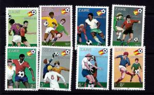 Zaire 1019-26 NH 1981 Soccer