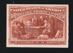 US 239P4 30c Columbian Exposition Proof on Card VF-XF SCV $100