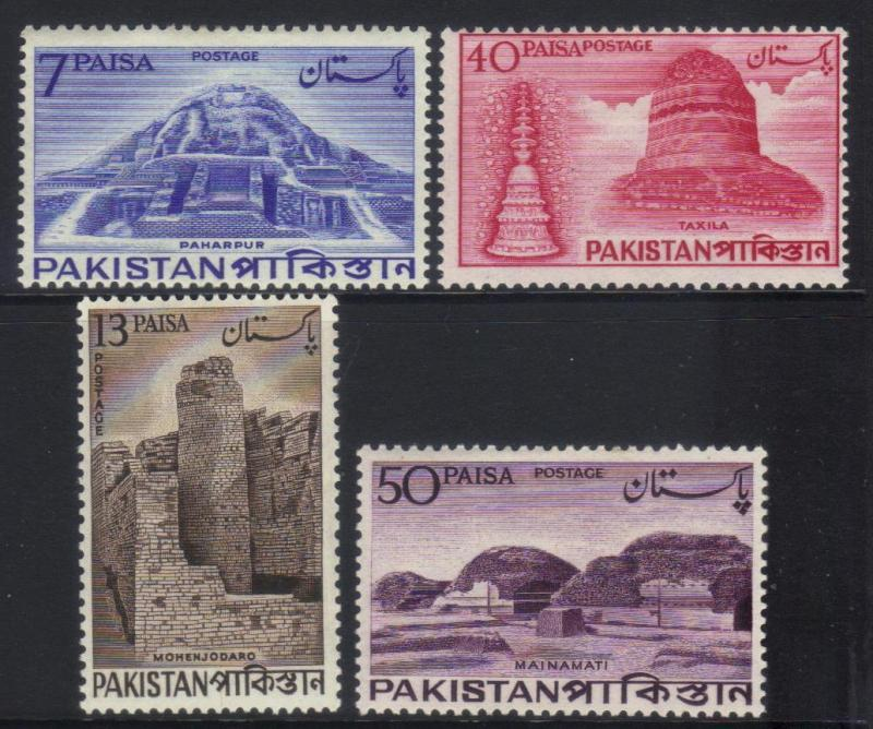 PAKISTAN 1963 ARCHAEOLOGICAL SERIES MH SET OF 4