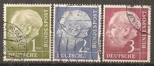 Germany #719-21 F-VF Used CV $3.65 (ST332)