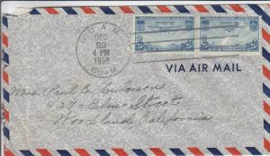 1936, Guam to Woodland, TX via Pacific Clipper, See Remark (23280)
