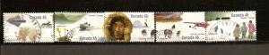 CANADIAN SET ON THE ARTIC USED STAMPS  LOT#71