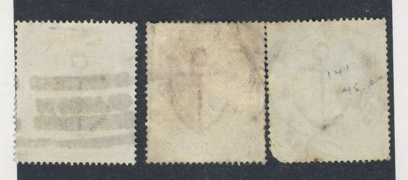 3x Great Britain High Value Stamps #139-2'6 #140-5' & #141-10' CC GV = $400.00