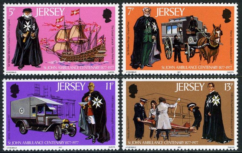 Jersey MNH 175-8 St. John Ambulance 1977