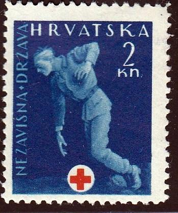 Croatia #RA2 Wounded Soldier, unused. HR, Thin