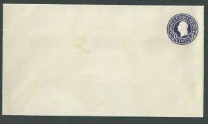Ca 1932 U436E 3c Purple On White Mint Entire Die 146 Size 13