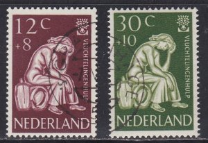 Netherlands # B341-342, World Refugee Year, Used, 1/2 Cat.