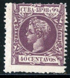 CUBA #171, UNUSED MINT DISTURBED GUM - 1898 - CUBA831AFF8