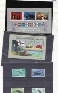 faroe islands mint never hinged stamps ref 13294