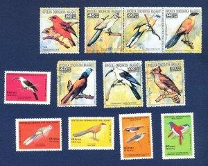 MALAGASY - Scott 773 // 792, 1103 (part set) - FVF MNH - BIRDS - 1986 & 1993