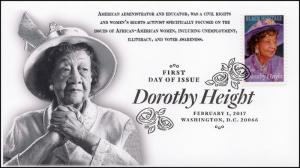 17-016, 2017, Dorothy Height, Black Heritage, Activist, FDC, BW Pictorial