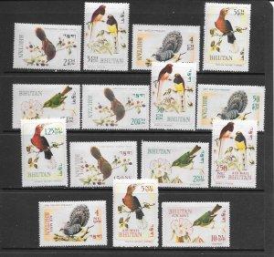 BIRDS - BHUTAN #99-99N  MNH