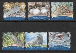 CAYMAN ISLANDS SG1051/6 2004 BLUE IGUANA MNH