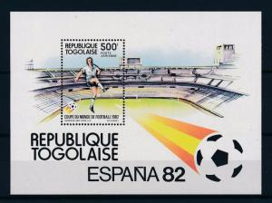 [59486] Togo 1982 World Cup Soccer Football Spain MNH Sheet