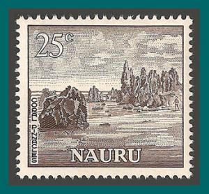 Nauru 1966 Coral Pinnacles, 25c MNH 67,SG75