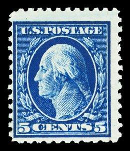 Scott 504 1917 5c Blue Washington Mint Fine OG NH Gum Skips Cat $17