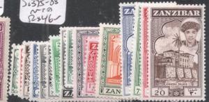 Zanzibar SG 375-88 MNH (8djs)