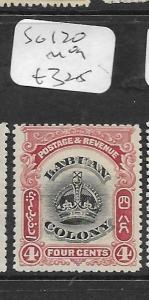 LABUAN  (PP0104B)  CROWNS 4C  SG 120  MOG