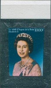 Togo 1977 SG1179 1000f QEII Silver Jubilee imperf MNH