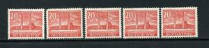 Germany Berlin Stamps # 9N102 XF MNH Set of 5