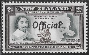 New Zealand O79 Unused/Hinged - Tasman's Discovery of New Zealand