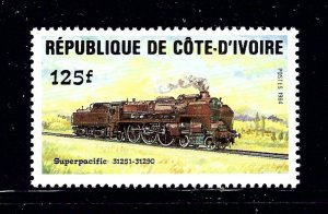 Ivory Coast 724 MNH 1984 Locomotive         (P110)