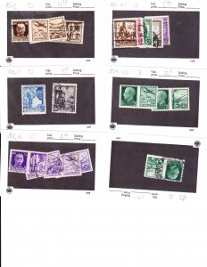 italy - small group sc #400//438 17 stamps cv $29+