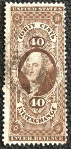 US Revenue #R53c Used Single George Washington SCV $8.00 L37