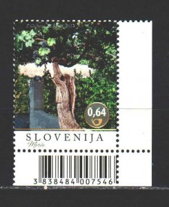 Slovenia. 2014. 1055 from the series. Grapes, flora. MNH.